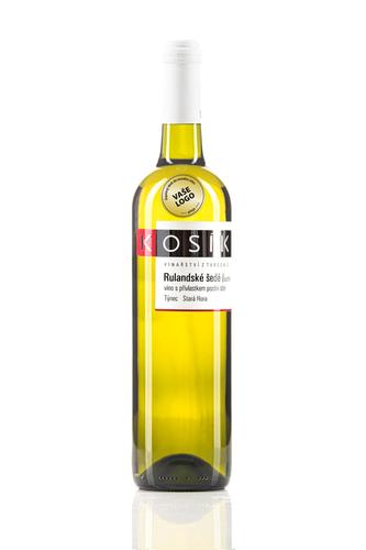 Reklamní tiché víno s etiketou - Rulandské šedé, Vinařství Kosík